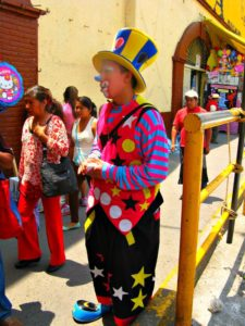 clown in market