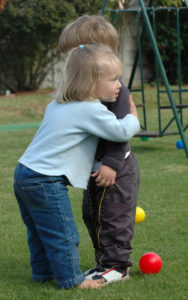 love kids hugging